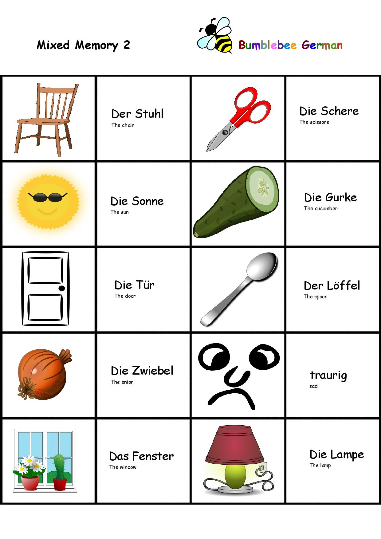 Colours  and numbers in German worksheet